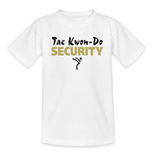 Taekwondo Security black & gold print - Teenage T-shirt