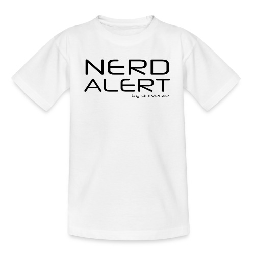 Nerd Alert - Hvid - Teenager-T-shirt