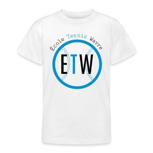 logo rond tennis vert - T-shirt Ado