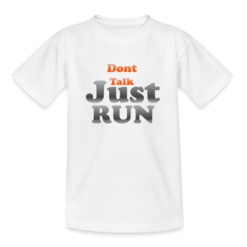 Just Run Limited Shirt, Motivation Laufen, Joggen - Teenager T-Shirt