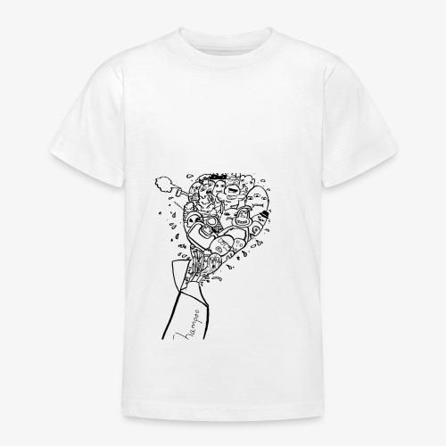 shampoo doodles - Teenage T-shirt