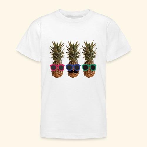 Hipster Ananas mit Sonnenbrillen und Bart - Teenage T-shirt
