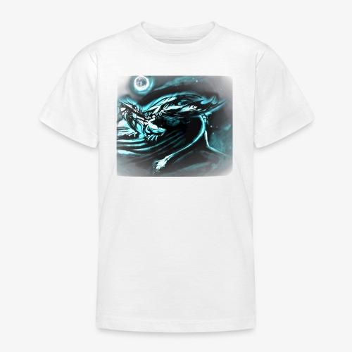 dragon- white / gray full moon - Koszulka młodzieżowa