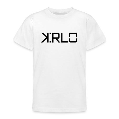 Kirlo Logotipo Negro - Camiseta adolescente