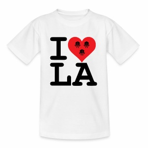 I Love LA! schwarz mit Bändern - Teenager T-Shirt