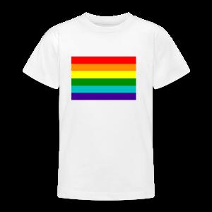 Gay pride rainbow vlag - Teenager T-shirt