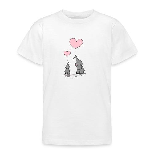 Éléphant Amoureux - T-shirt Ado