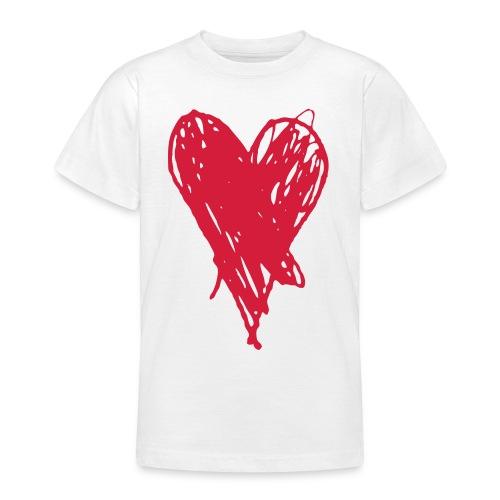 Cœur et amour pour dire je t'aime, i love you - T-shirt Ado