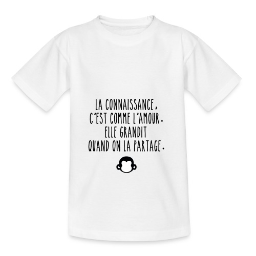 Grande citation et logo Savant Singe - T-shirt Ado