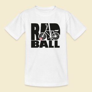 Radball | Typo Black - Teenager T-Shirt