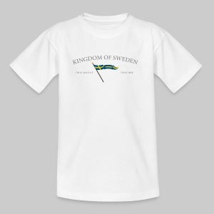 Swedish flag with text - T-shirt tonåring