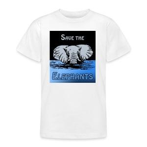 Save The Elephants - Teenager T-Shirt