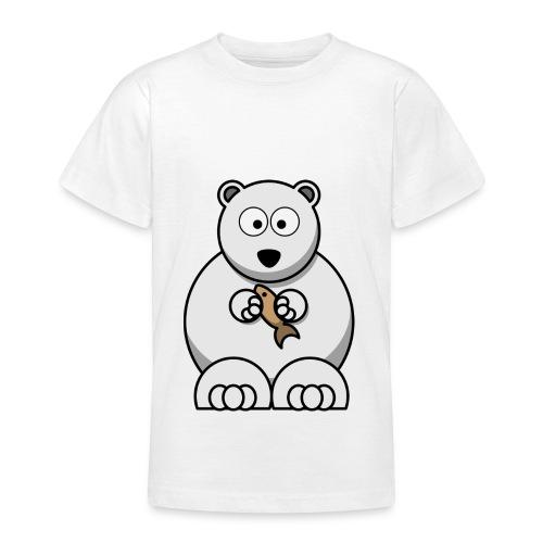 ours blanc - T-shirt Ado
