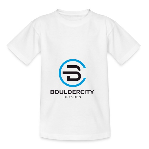 Bouldercity Dresden Blau Schwarz - Teenager T-Shirt