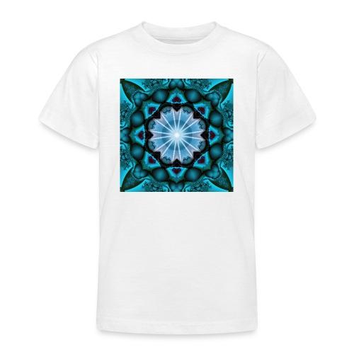 türkieses Fraktal - Teenager T-Shirt