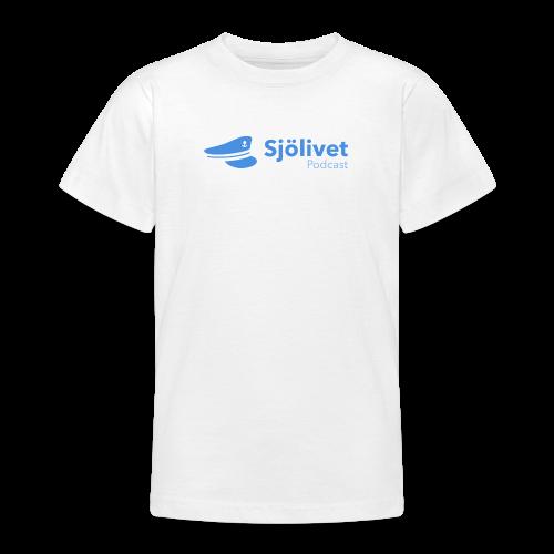Sjölivet podcast - Svart logotyp - T-shirt tonåring