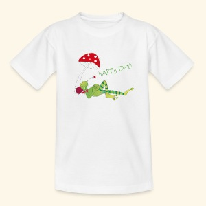 Glücksfrosch - Happy Day! - Teenager T-Shirt