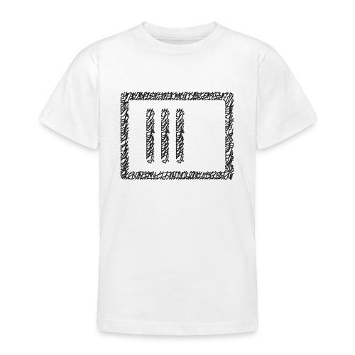 Wegzeichen 3 Min. warten - Stift - Schwarz - Teenager T-Shirt