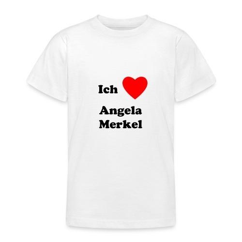 Ich liebe Angela Merkel - Teenager T-Shirt
