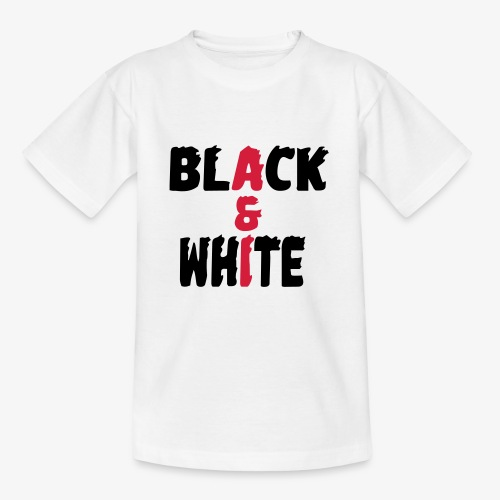 black et white - T-shirt Ado