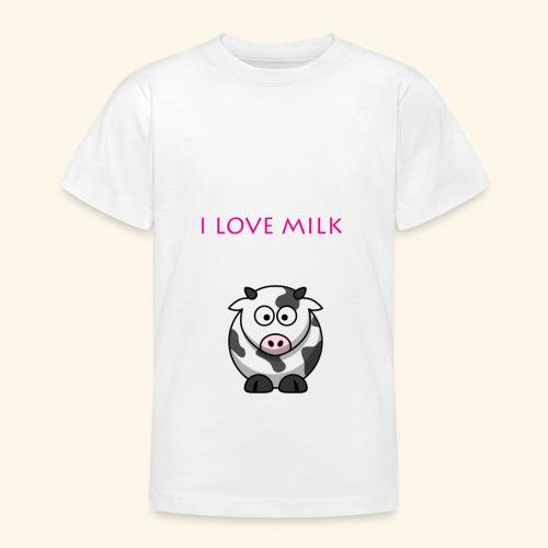 I LOVE MILK FILLE - T-shirt Ado