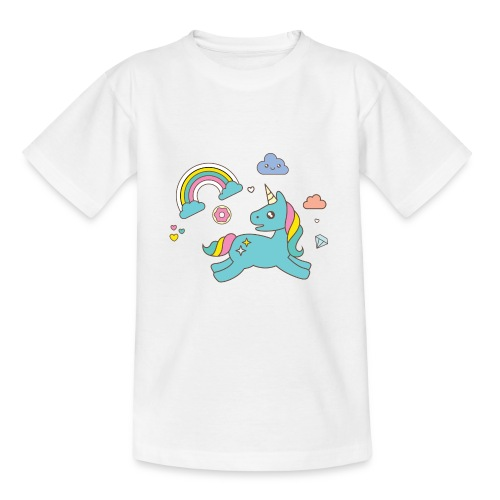 colored unicorn - Teenage T-Shirt