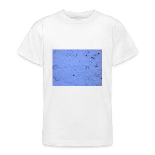 Deksel med vinterbilde - T-skjorte for tenåringer