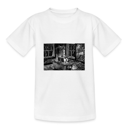 Marc podcasting in the zombie apocalypse - Teenage T-Shirt