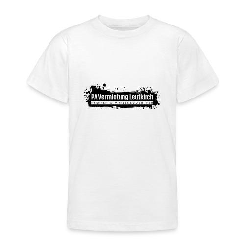 PA Vermietung Leutkirch Logo mit Klex - Teenager T-Shirt