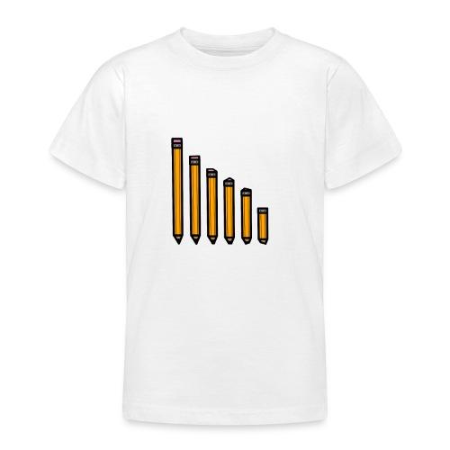 pencil evolution - Teenage T-shirt