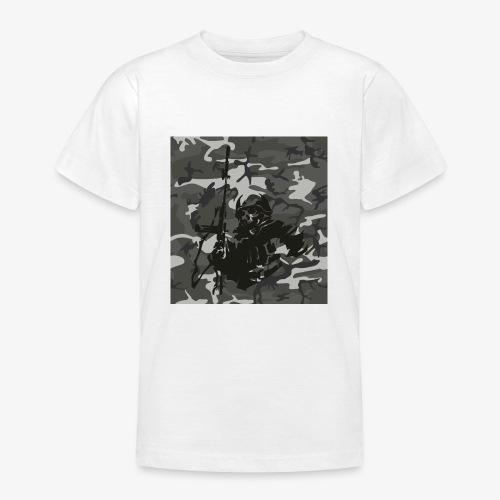 camuflaje con soldado - Camiseta adolescente