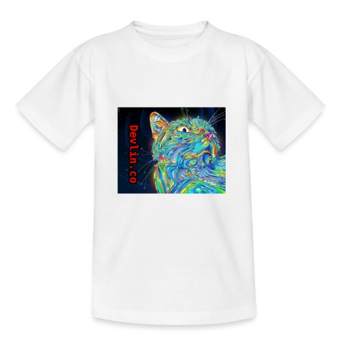Trippy cat - Teenage T-Shirt