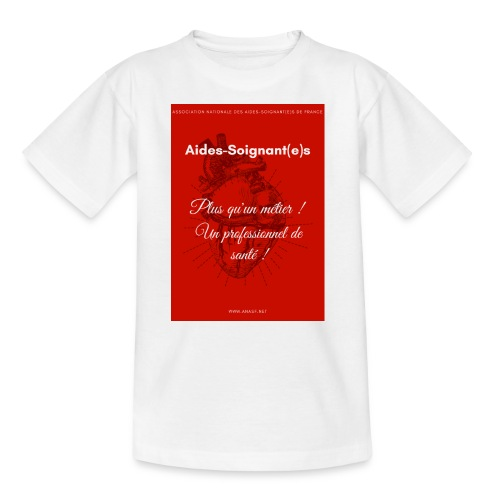 Association Nationale des aides soignant e s de fr - T-shirt Ado
