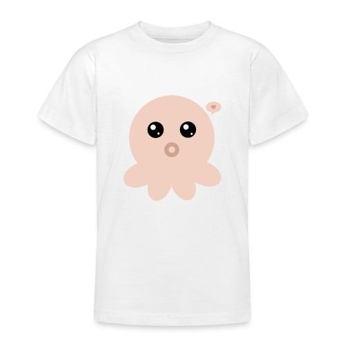 Poulpe Kawaii Orange - T-shirt Ado