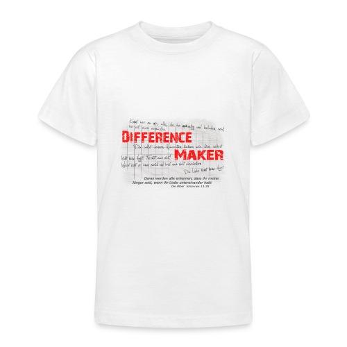 Difference Maker dunkel - Teenager T-Shirt