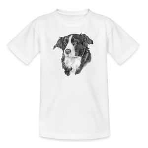 border collie S - Teenager-T-shirt