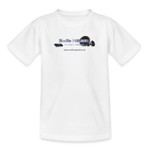 Radio PARALAX Facebook-Logo mit Webadresse - Teenager T-Shirt