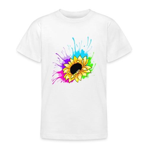 Sonnenblume Splash - Teenager T-Shirt
