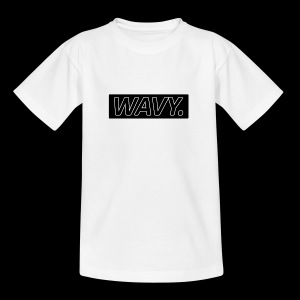 BLACK WAVY. RECTANGLE - T-shirt Ado