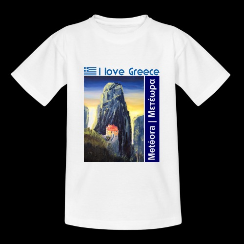 I love Greece. Blue Meteora - Teenager T-Shirt