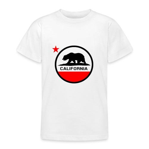 California Circle Flag - Teenage T-Shirt
