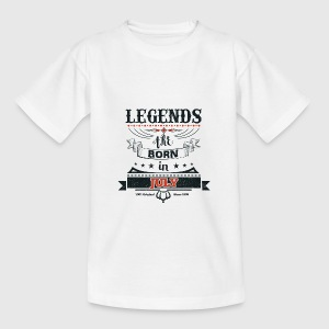 Legends are born in July birthday gift - Teenage T-shirt