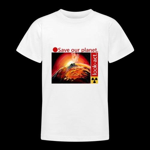 Save our planet. Fukushima Theme - Teenager T-Shirt