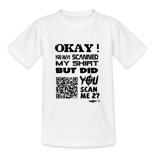 QR shirt for nosy people - Teenager T-shirt