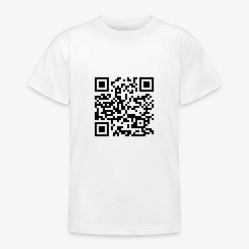 Channel Link QR Code - Teenage T-Shirt