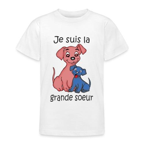 Je suis la grande soeur chiot B - T-shirt Ado