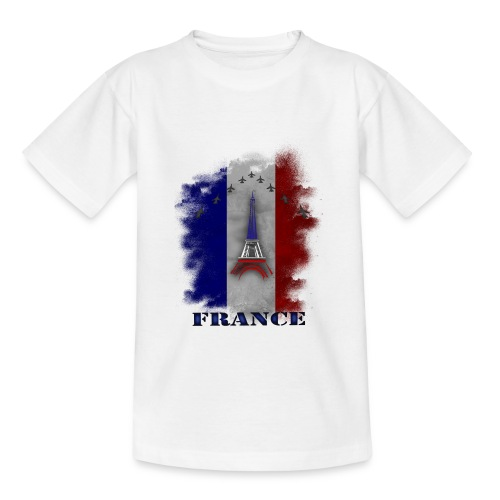 Fandesign Frankreich - Teenager T-Shirt