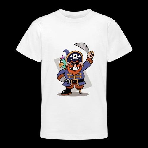 Pirat Zahnlücke mit Farbagallo - Teenager T-Shirt