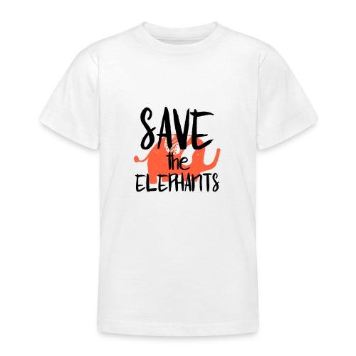 Save the Elephants - Teenage T-Shirt