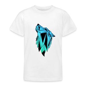 Blau-Schwarzer Wolf - Teenager T-Shirt